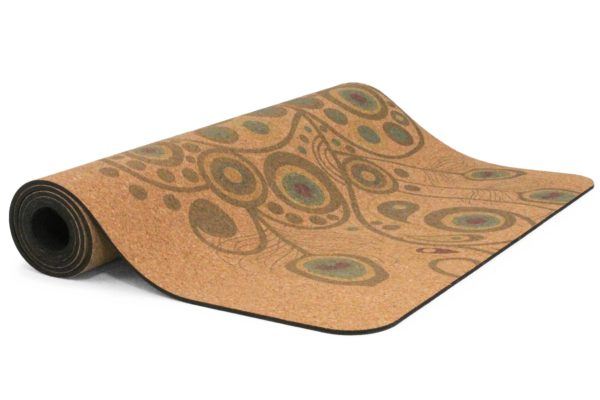 Yogamatte aus Kork mit Muster