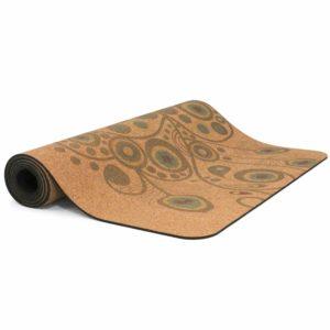 yoga Matte aus Kork mit Muster
