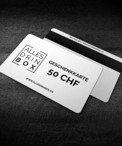 Geschenkkarte von allesdrinbox im Wert von 50 CHF